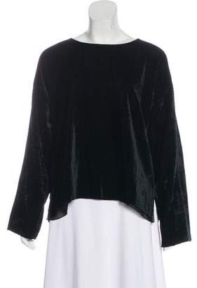 Shamask Long Sleeve Velvet Top
