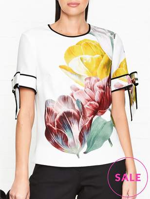 Ted Baker Pollie Tranquility Print Bow Sleeve Top