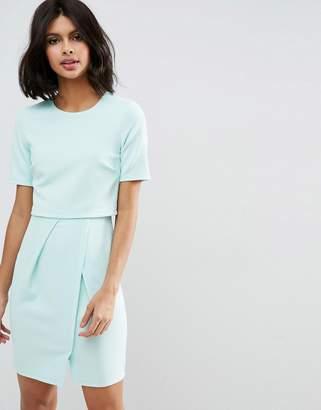 Asos Textured Double Layer Mini Wiggle Dress