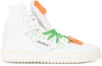 Off-White contrast lace-up sneakers