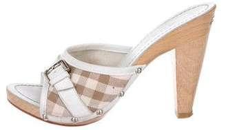 Burberry Nova Check Slide Sandals