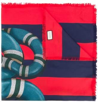Gucci Kingsnake print scarf
