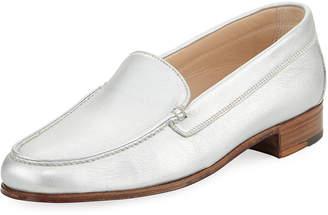 Gravati Metallic Leather Venetian Loafer