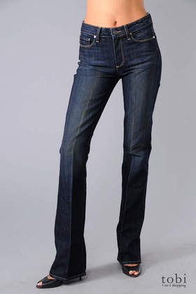 Paige Rising Glen High Rise Slim Bootcut Jeans in McKinley