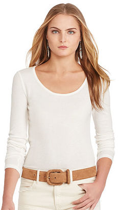 Polo Ralph Lauren Featherweight Scoopneck Tee $125 thestylecure.com