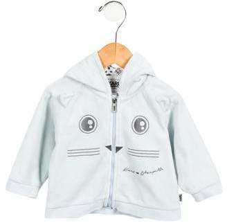 Karl Lagerfeld Girls' Velour Hooded Jacket