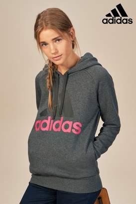 Next Womens adidas Dark Grey Essential Linear Hoody