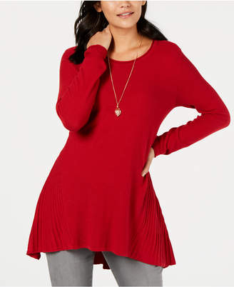 Style&Co. Style & Co Ribbed High-Low Tunic Top, Created for Macy's