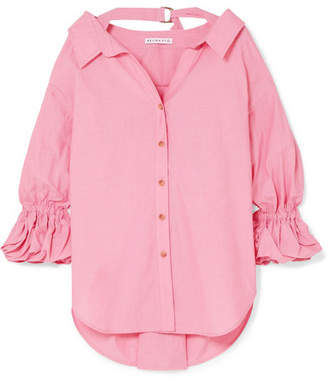 REJINA PYO - Amber Oversized Cotton Shirt - Pink