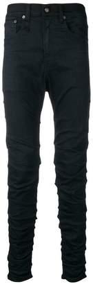 R 13 wrinkled effect jeans