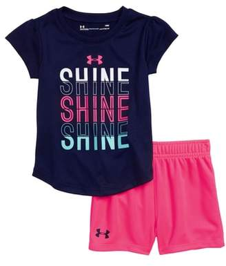 Under Armour Shine Shine Shine HeatGear(R) Tee & Shorts Set