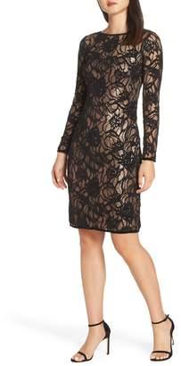 Tadashi Shoji Vita Sequin Lace Sheath Dress