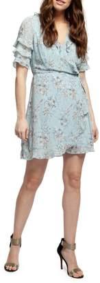 Dex Floral Fit--Flare Wrap Dress