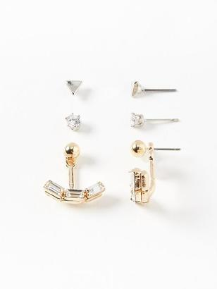 Fashion-Stud Earring 3-Pack for Women $9.94 thestylecure.com