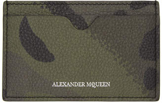 Alexander McQueen Khaki Camouflage Dancing Skeleton Card Holder