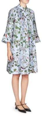 Erdem Reagan Pintuck Shirt Dress