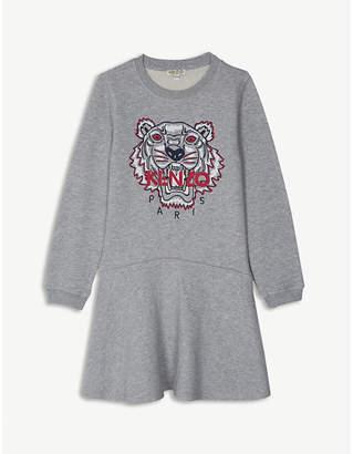 Kenzo Tiger cotton jumper dress 4-16 years