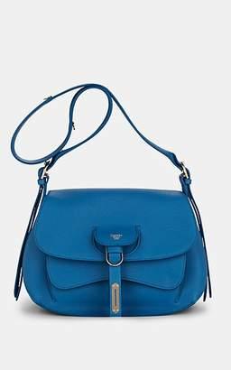 Fontana Milano Women's Wight Lady Leather Saddle Bag - Md. Blue