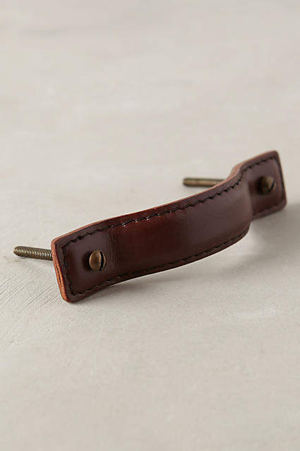 Anthropologie Saddle Stitch Handle