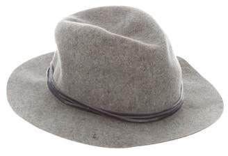 Rag & Bone Velvet-Trimmed Wool Hat