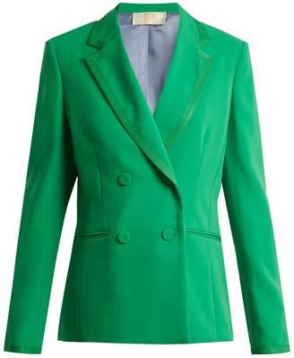 Sara Battaglia Double-breasted crepe jacket