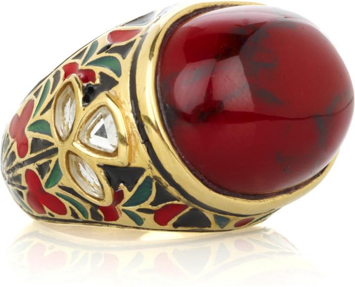 Isharya Jaisel 18-karat gold-plated ring