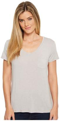 Prana Foundation Short Sleeve V-Neck Top Women's T Shirt