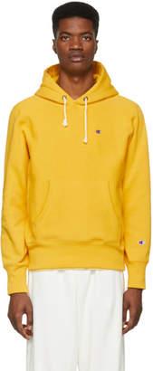Champion Reverse Weave Yellow Logo Hoodie