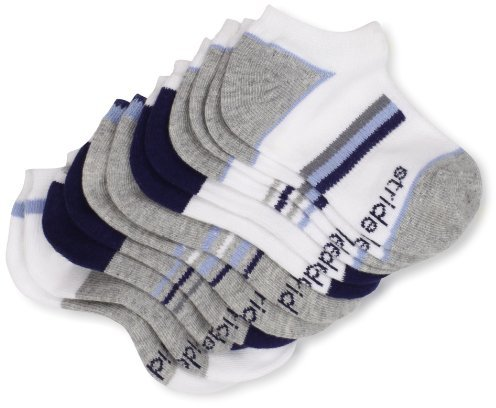 Stride Rite Boys 2-7 Power Sport Mesh Top And Arch Support 6 Pack No Show Socks