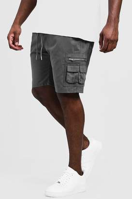 boohoo Big & Tall Utility Shorts With Elasticated Waist Band