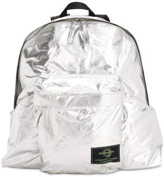 Juun.J Silver Waxed Cotton Backpack