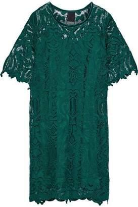Anna Sui Velvet-trimmed Guipure Lace Dress