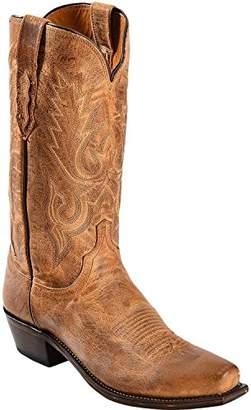 Lucchese Bootmaker Men's Lewis-Tan Mad Dog Goat Riding Boot