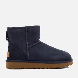 UGG Women's Classic Mini II Sheepskin Boots - Navy
