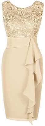 Judy Ellen Sleeveless Knee Length Sheath Evening Dress J080LF US