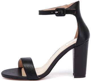 Nude Dakota-nu Black Sandals Womens Shoes Dress Heeled Sandals