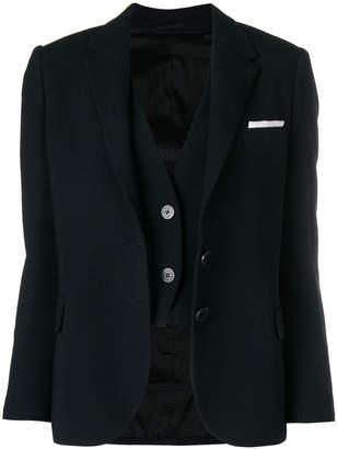 Neil Barrett waistcoat layer blazer