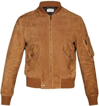 Saint Laurent Suede bomber jacket