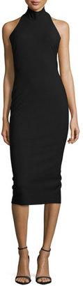 Elizabeth and James Kara Halter-Neck Fitted Dress, Black $395 thestylecure.com