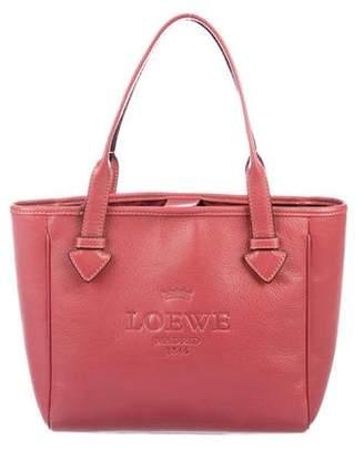 Loewe Leather Logo Top Handle Bag