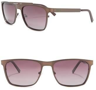 Timberland Rectangular 57mm Sunglasses