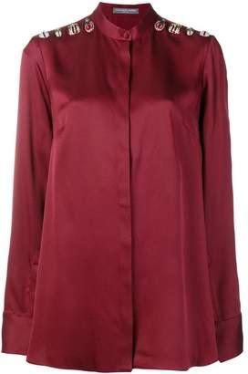 Alexander McQueen bug embellished blouse