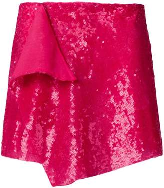 Alberta Ferretti sequin embellished mini skirt