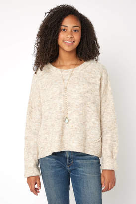 RD Style Marled Knit Cropped Pullover