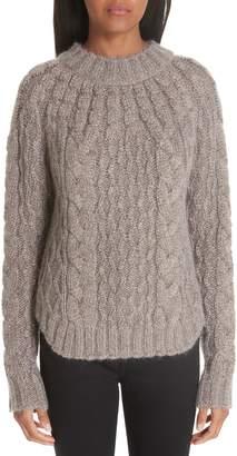 Saint Laurent Metallic Cable Knit Sweater