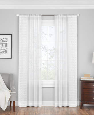 """Hudson Hill Ripples 50"""" x 84"""" Embroidered Sheer Rod Pocket Window Panel"""
