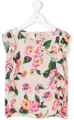 Bellerose Kids floral ruffled blouse