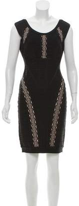 Herve Leger Taja Crochet Jacquard Dress