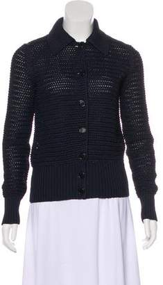 Celine Collared Knit Cardigan
