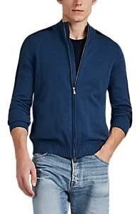 Fioroni Men's Mixed-Knit Cotton Jacket - Blue